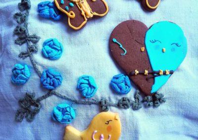 Biscotti farfalle e uccelli